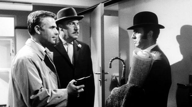 Wer ist der Hexer? Inspektor Higgins (Joachim Fuchsberger, l.) und Sir John (...