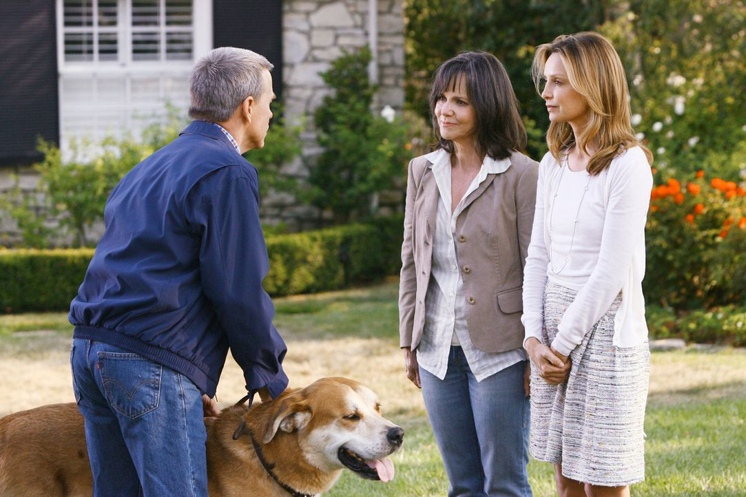 Kitty (Calista Flockhart, r.) und Nora (Sally Field, M.) treffen auf George Lafferty (David Andrews, l.) ... - Bildquelle: 2008 ABC INC.