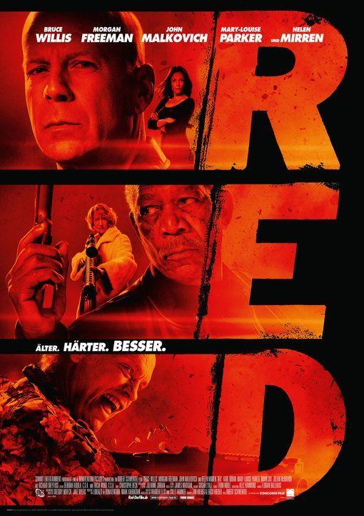 R.E.D. - ÄLTER, HÄRTER, BESSER - Plakatmotiv - Bildquelle: 2010 Concorde Filmverleih GmbH