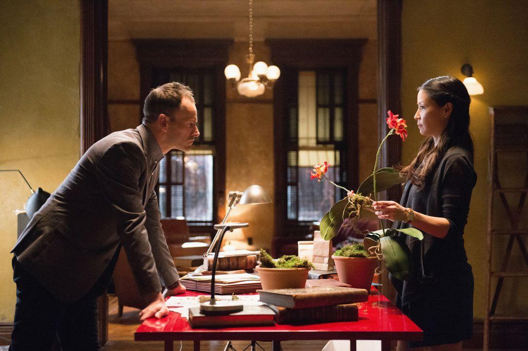 Auf der Suche nach einem gefährlichen Killer: Holmes (Jonny Lee Miller, r.) und Watson (Lucy Liu, r.) ... - Bildquelle: CBS Television