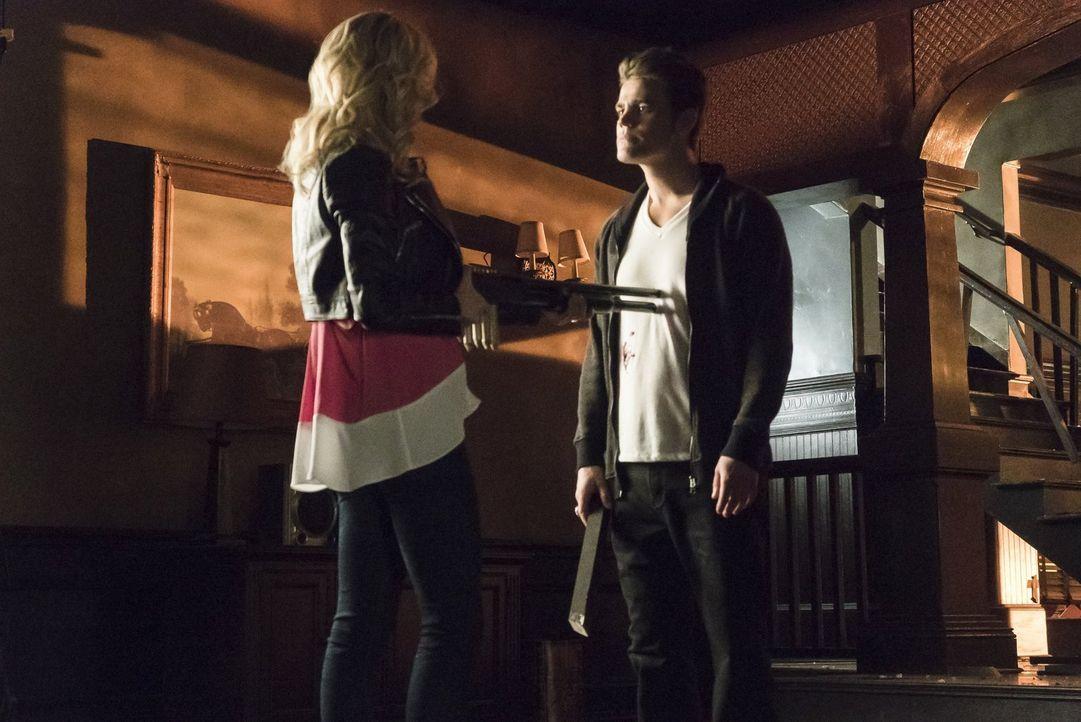 Eigentlich hatte sich Caroline (Candice Accola, l.) das Zusammenleben mit Stefan (Paul Wesley, r.) ohne menschliche Gefühle anders vorgestellt ... - Bildquelle: Warner Bros. Entertainment, Inc