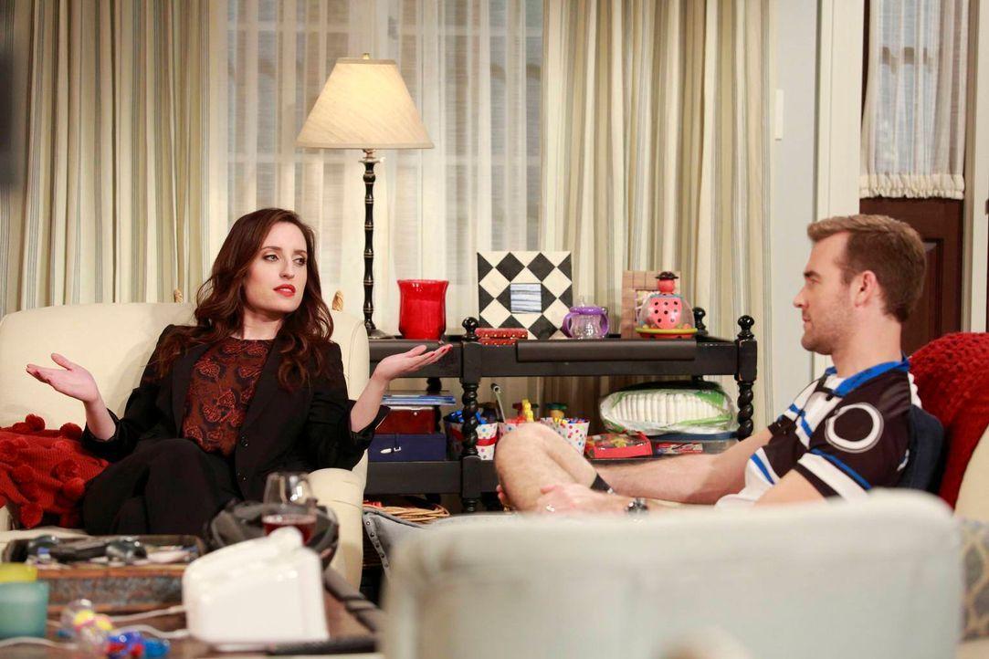 Als Kate (Zoe Lister Jones, l.) ihrem Kumpel Will (James Van Der Beek, r.) beweisen will, dass sie überhaupt nicht wählerisch ist, heckt dieser eine... - Bildquelle: 2013 CBS Broadcasting, Inc. All Rights Reserved.