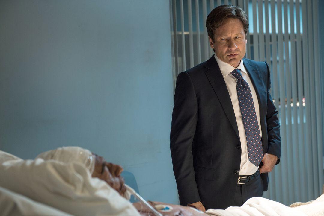 Mulder (David Duchovny) will an einem hirntoten Attentäter eine ungewöhnliche Ermittlungsmethode ausprobieren. Er will mit Hilfe von Magic Mushrooms... - Bildquelle: 2016 Fox and its related entities.  All rights reserved.