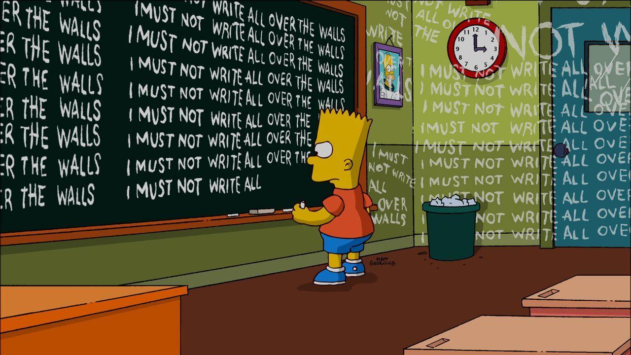 Bart hat ganz offensichtlich wieder mal etwas angestellt ... - Bildquelle: und TM Twentieth Century Fox Film Corporation - Alle Rechte vorbehalten
