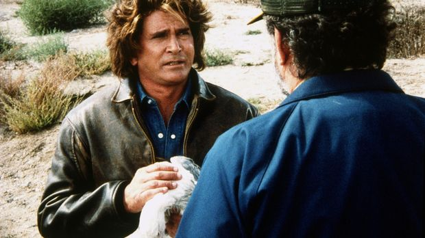 Jonathan (Michael Landon, l.) und Mark (Victor French, r.) finden verendete S...