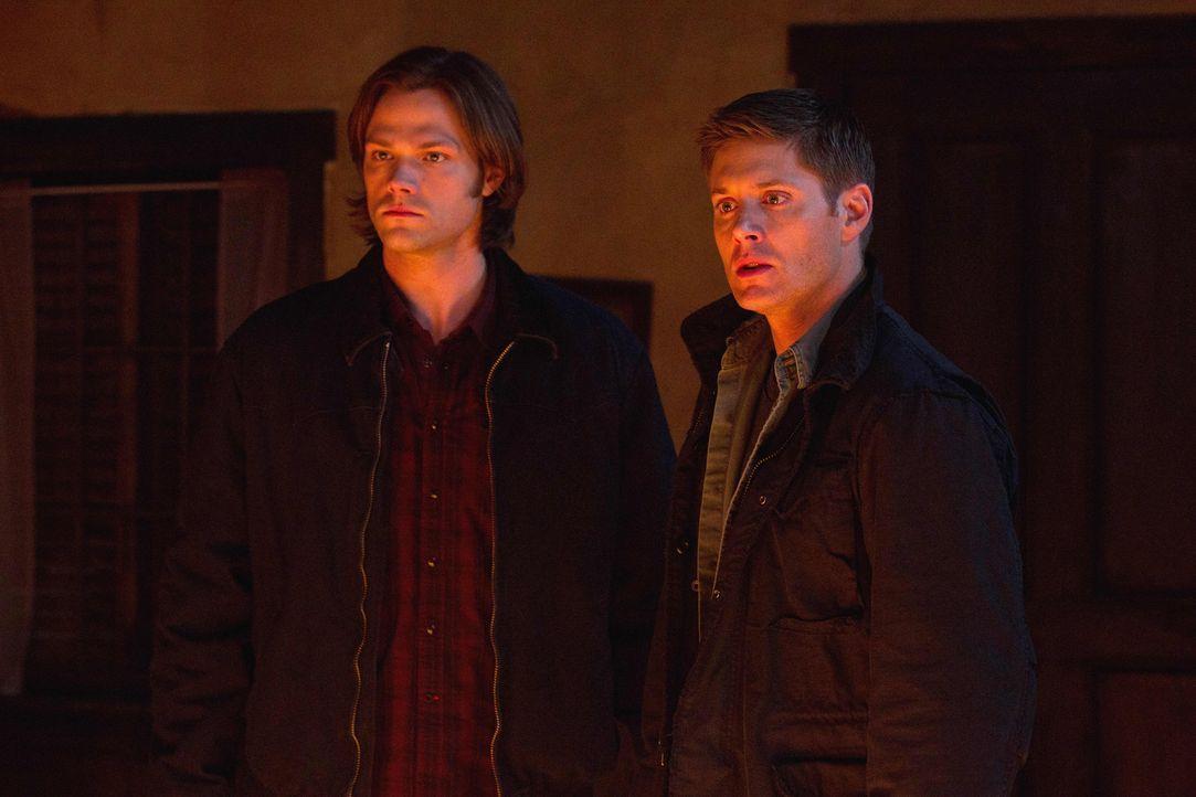 Wie werden Sam (Jared Padalecki, l.) und Dean (Jensen Ackles, r.) mit der ernüchternden Erkenntnis über Castiel umgehen? - Bildquelle: Warner Bros. Television