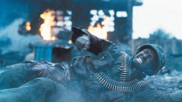 Unter dem Feuer des Vietcong stirbt ein Soldat nach dem anderen seinen einsam...