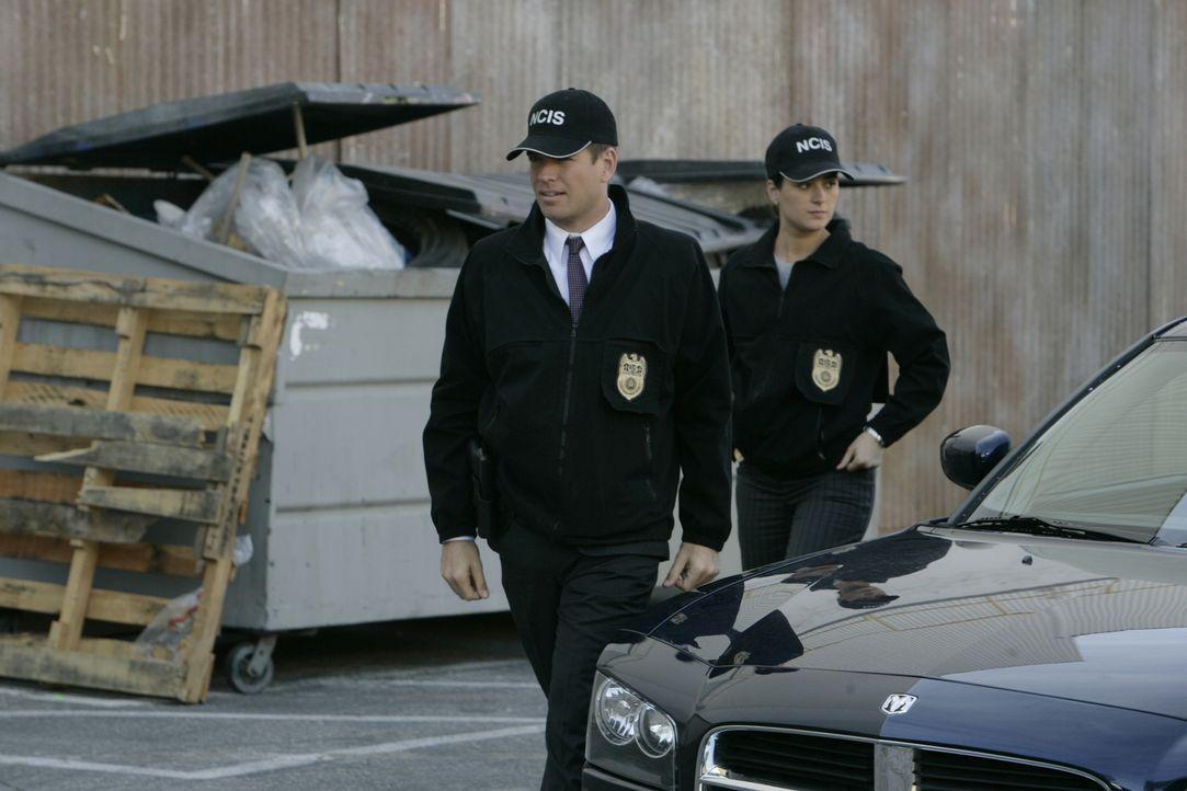 Ein früherer Mitarbeiter des Geheimdienstes der Navy wurde ermordet aufgefunden. Ziva (Cote de Pablo, r.) und DiNozzo (Michael Weatherly, l.) ermitt... - Bildquelle: CBS Television