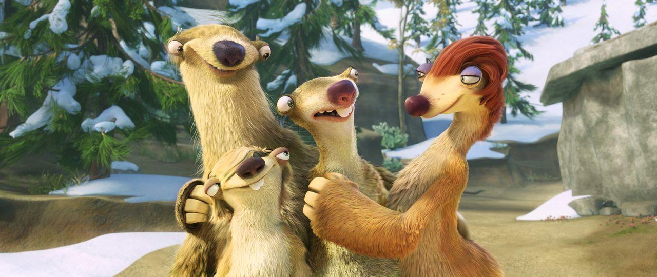(v.l.n.r.) Milton, Marshall, Sid und Eunice ahnen noch nicht, dass sie gleich gewaltsam auseinandergerissen werden ... - Bildquelle: TM &   2012 Twentieth Century Fox Film Corporation. All rights reserved.