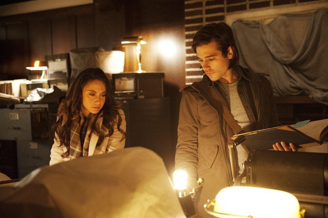 Nachdem Quentin (Jason Ralph, r.) von seinen Freunden getrennt wurde, versucht er zusammen mit Julia (Stella Maeve, l.), einen anderen Weg nach Fill... - Bildquelle: 2015 Syfy Media Productions LLC. ALL RIGHTS RESERVED.
