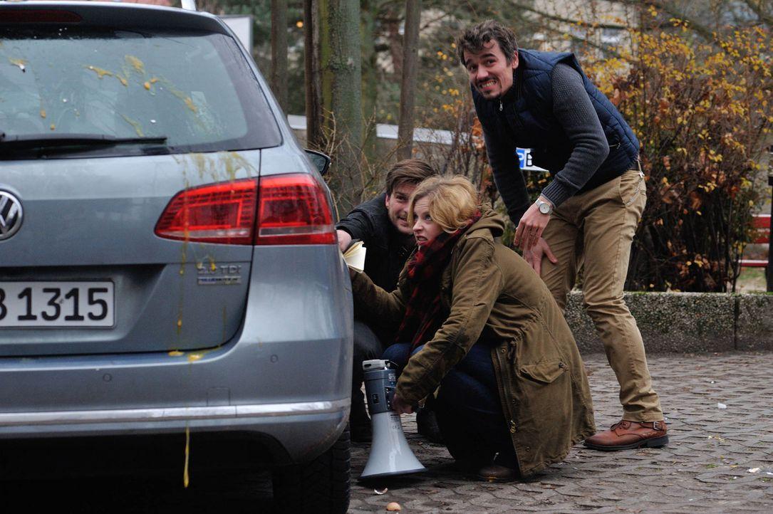 Ermitteln in einem neuen Mordfall: Josephine (Diana Amft, M.), Fritz (Matthi Faust, l.) und Alexander (Alexander Khuon, r.) ... - Bildquelle: Hardy Spitz SAT.1
