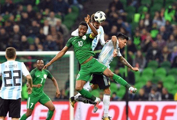 Argentinien verliert ohne Lionel Messi gegen Nigeria