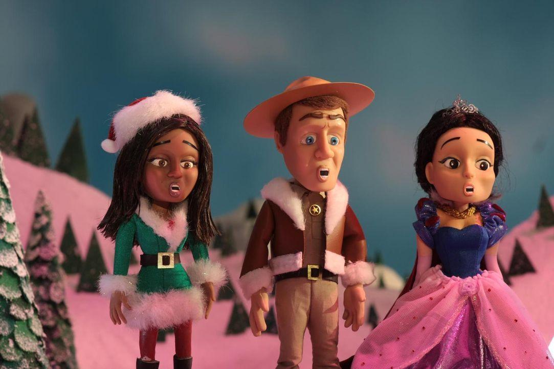 Stehen vor einem Rätsel: Allison (l.), Jack (M.) und Jo (r.) ... - Bildquelle: Universal Television