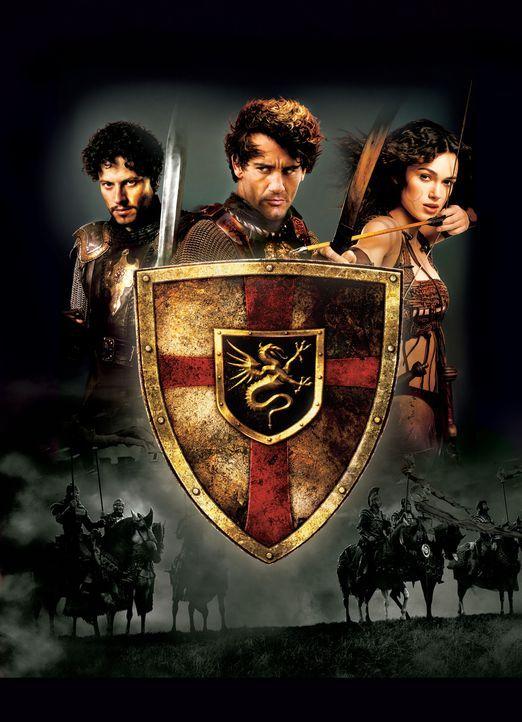 King Arthur - Artwork -  mit (v.l.n.r.) Ioan Gruffudd, Clive Owen und Keira Knightley - Bildquelle: TOUCHSTONE PICTURES & JERRY BRUCKHEIMER FILMS, INC. ALL RIGHTS RESERVED.