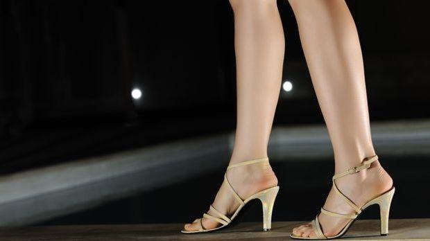 Schön anzusehen, aber schlecht für den Rücken: Schuhe mit hohen Absätzen.
