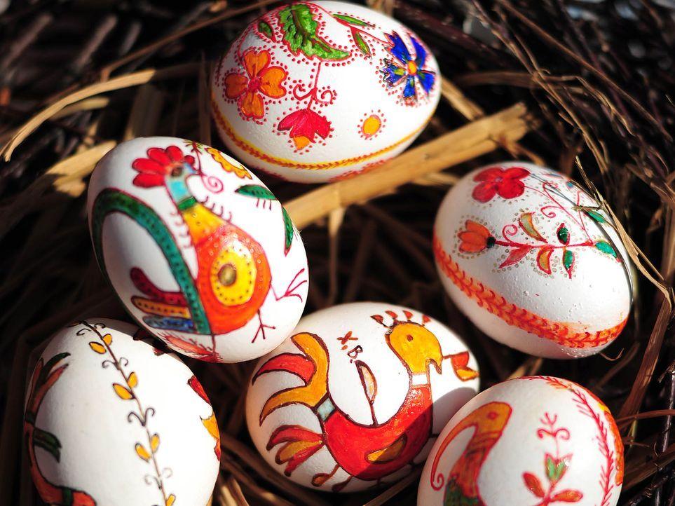 Handbemalte Eier - Bildquelle: AFP