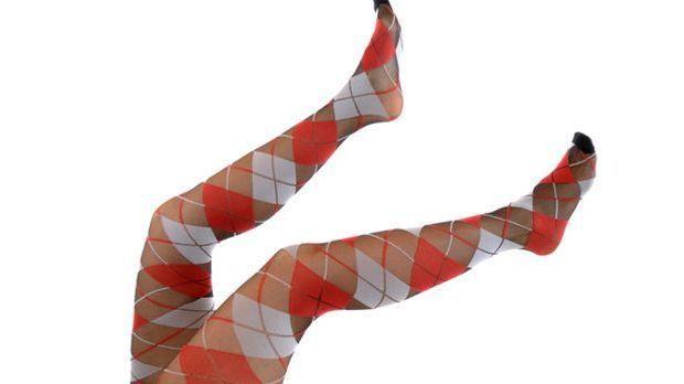 trendige Karomuster auf Strumpfhosen