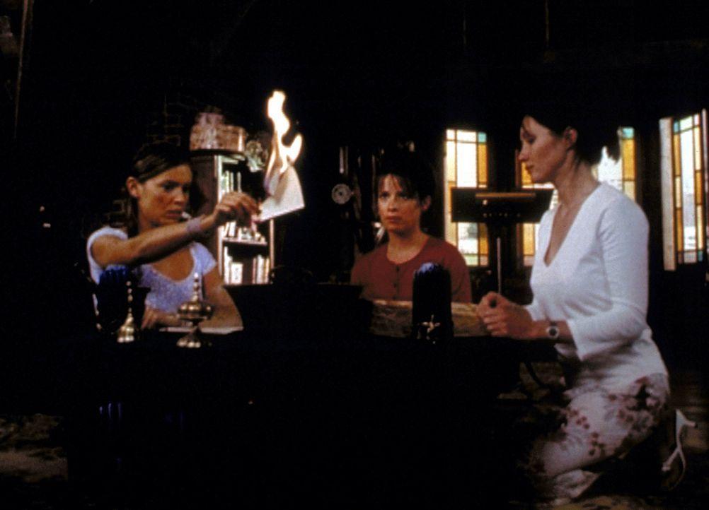Phoebe (Alyssa Milano, l.), Piper (Holly Marie Combs. M.) und Prue (Shannen Doherty, r.) wollen herausfinden, warum Phoebe im Jahr 2009 auf dem Sche... - Bildquelle: Paramount Pictures