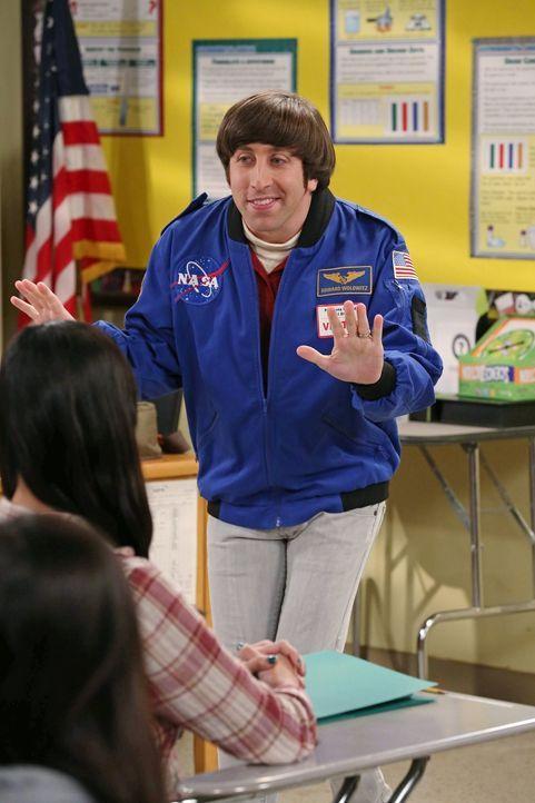 Gemeinsam mit Leonard und Sheldon, soll Howard (Simon Helberg) junge Mädchen für die Wissenschaft begeistern. Doch das ist gar nicht so einfach ... - Bildquelle: Warner Bros. Television