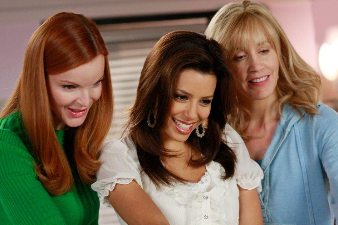 Heißen den kleinen Delfino Spross Willkommen: Bree (Marcia Cross, l.), Gabrielle (Eva Longoria, M.) und Lynette (Felicity Huffman, r.) ... - Bildquelle: ABC Studios