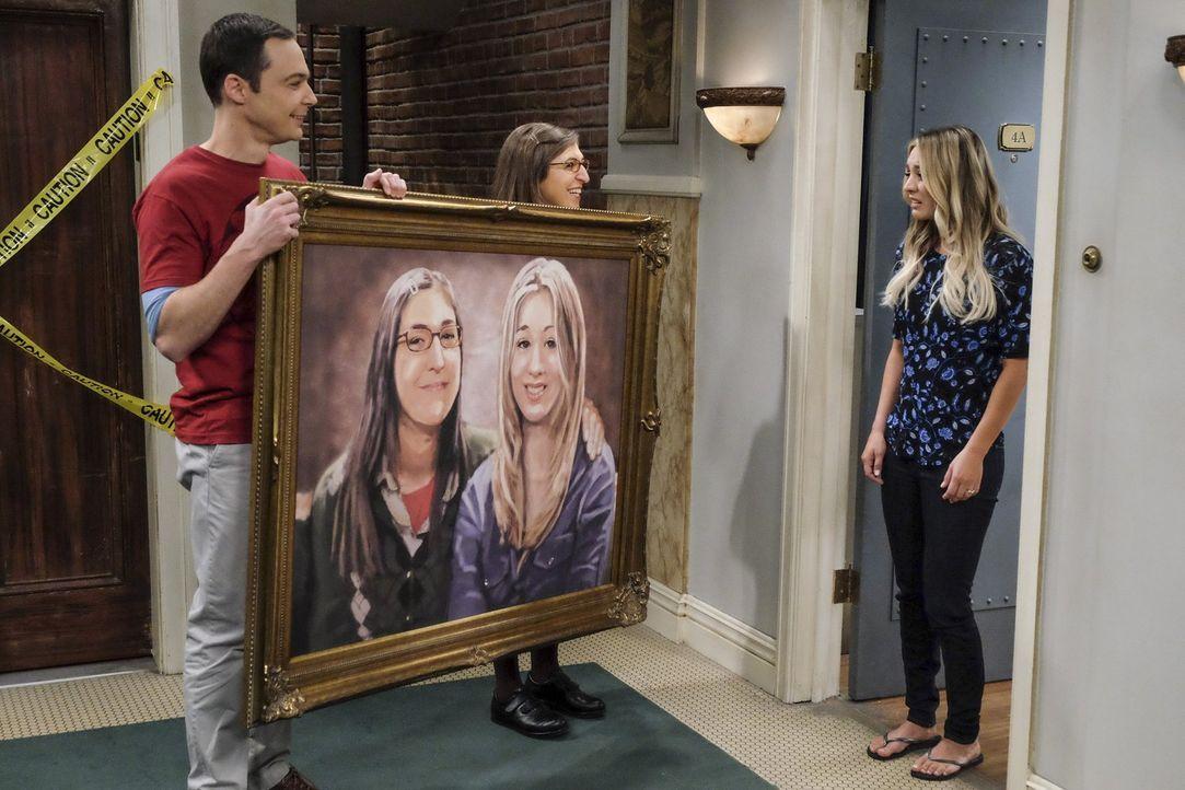 Nachdem Sheldons (Jim Parsons, l.) und Amys (Mayim Bialik, 2.v.l.) Wohnexperiment geglückt ist, wollen sie Umdekorieren und müssen daher einiges an... - Bildquelle: 2016 Warner Brothers