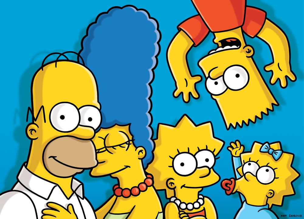 (27. Staffel) - Die Simpsons: Maggie (r.), Marge (2.v.l.), Homer (l.), Bart (2.v.r.) und Lisa Simpson (M.) ... - Bildquelle: 2015 Fox and its related entities.  All rights reserved.