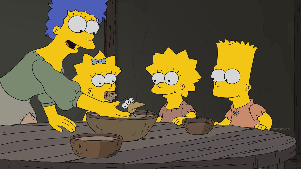 (v.l.n.r.) Marge; Maggie; Lisa; Bart - Bildquelle: 2017-2018 Fox and its related entities.  All rights reserved.