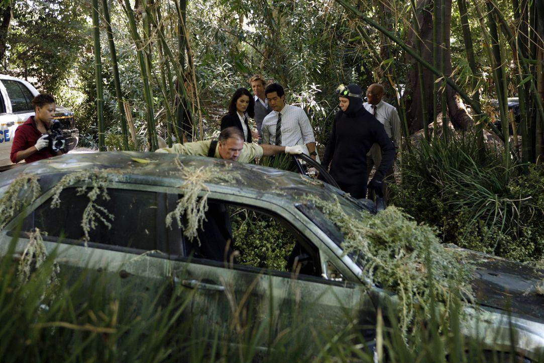 Die Ermittlungen laufen auf Hochtouren: Teresa (Robin Tunney, 3.v.l.), Kendall (Tim Kang, 3.v.r.) und Patrick (Simon Baker, M.) ... - Bildquelle: Warner Bros. Television