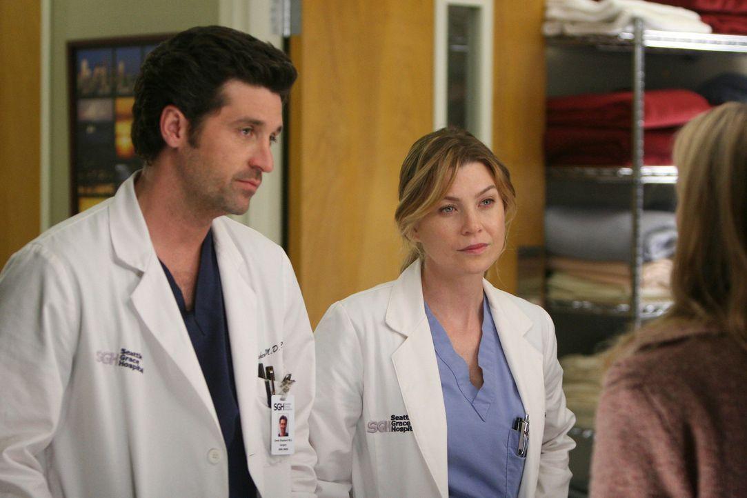 Wollen unbedingt ein krebskrankes Liebespaar retten: Derek (Patrick Dempsey, l.) und Meredith (Ellen Pompeo, r.) ... - Bildquelle: Touchstone Television
