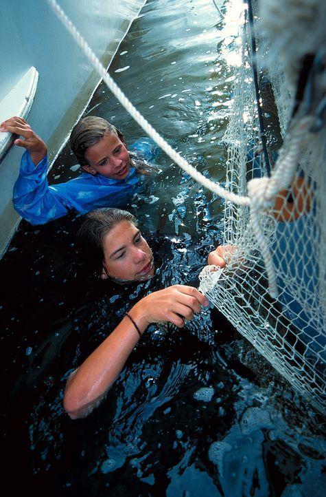 Rettung in letzter Sekunde: Nina (Louisa Herfert, l.) und (Philipp Danne, r.) können Domino befreien ... - Bildquelle: Leslie Haslam ProSieben