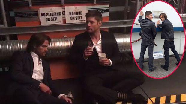 Supernatural Meets The Flash Jared Padalecki Und Jensen Ackles