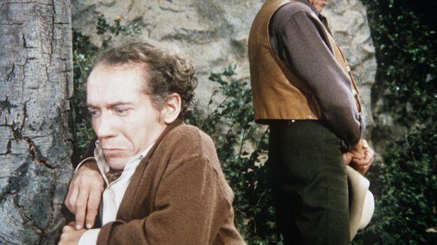 Ben Cartwright (Lorne Greene, r.) möchte dem Liliputaner George Marshall (Mic...