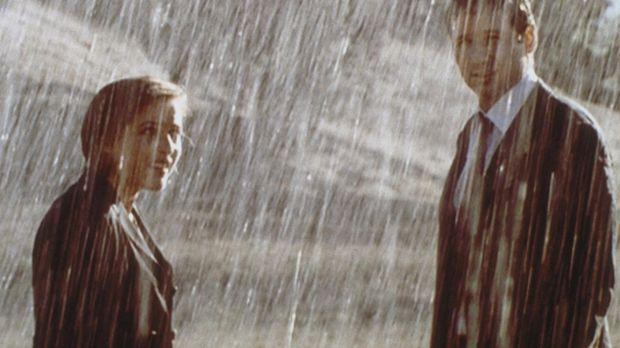 Scully (Gillian Anderson, l.) und Mulder (David Duchovny) bezweifeln, dass Me...