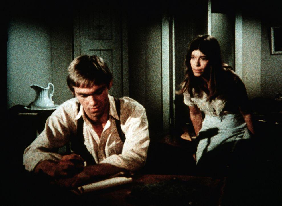 John-Boy (Richard Thomas, l.) ist fest davon überzeugt, noch nie so schönes Mädchen wie Jenny Pendleton (Sian Barbara Allen, r.) gesehen zu haben ..... - Bildquelle: WARNER BROS. INTERNATIONAL TELEVISION