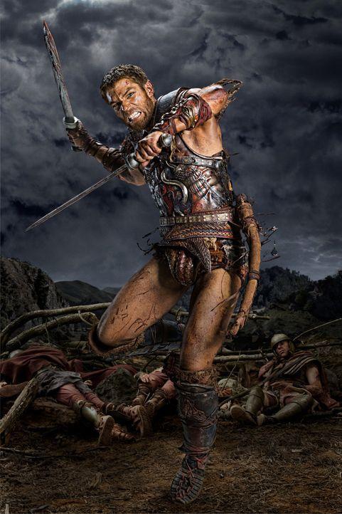 Seit der Ermordung seiner Frau sinnt Spartacus (Liam McIntyre) nur noch auf Rache. Inzwischen ist seine Truppe entflohener Sklaven zu einer Armee he... - Bildquelle: 2012 Starz Entertainment, LLC. All rights reserved.