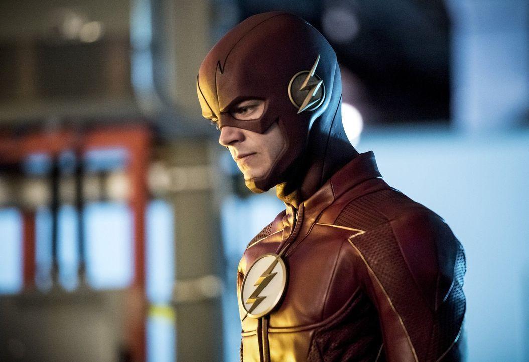 Barry alias The Flash (Grant Gustin) und seine Freunde müssen gegen ein Metawesen kämpfen, dass jegliche Technik kontrollieren kann ... - Bildquelle: 2017 Warner Bros.