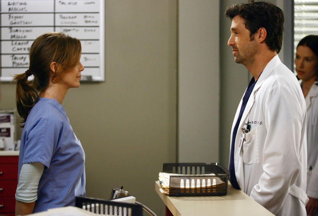 Wissen nicht, ob sie noch ein Paar sind: Meredith (Ellen Pompeo, l.) und Derek (Patrick Dempsey, r.) ... - Bildquelle: Touchstone Television