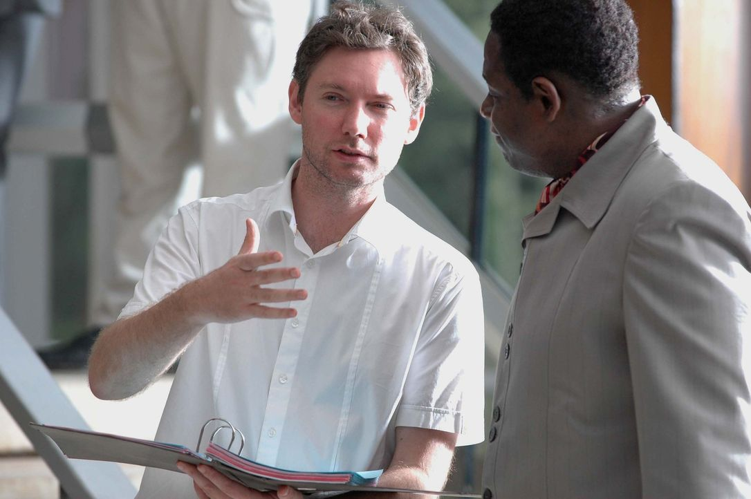 Regisseur Kevin Macdonald, l. mit Hauptdarsteller Forest Whitaker, r.
