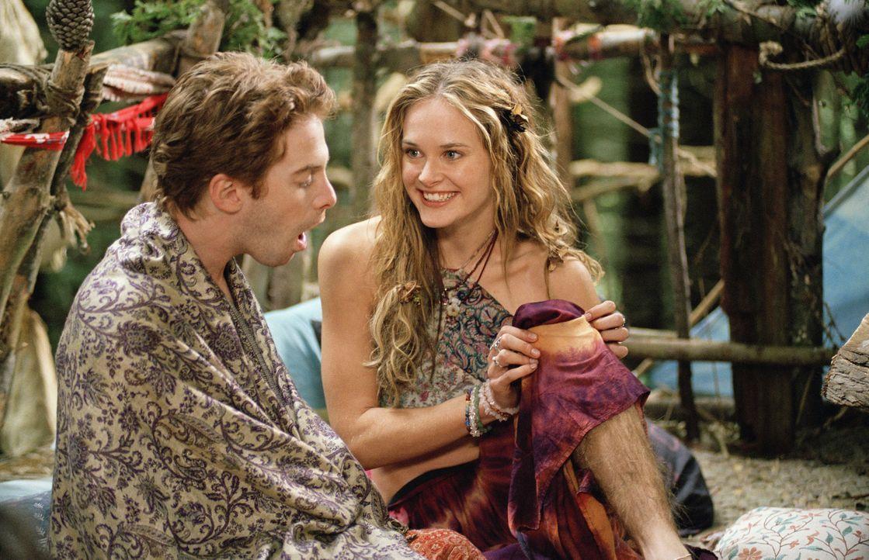 Schon bald verliert Dan (Seth Green, l.) sein Herz an die ausgeflippte Flower (Rachel Blanchard, r.) ... - Bildquelle: Paramount Pictures