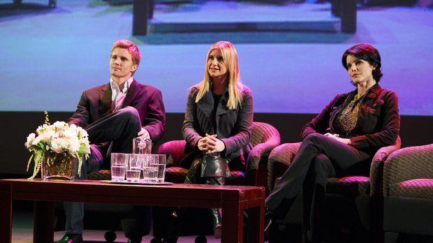 Grant Harper (Thad Luckinbill, l.), Suzanne Zale (Lesli Kay, r.) und Cally O'...