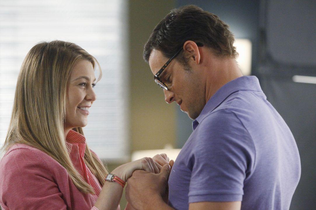 Meredith (Ellen Pompeo, l.) hat sich gerade mit Alex Karev (Justin Chambers, r.) verlobt ... - Bildquelle: ABC Studios
