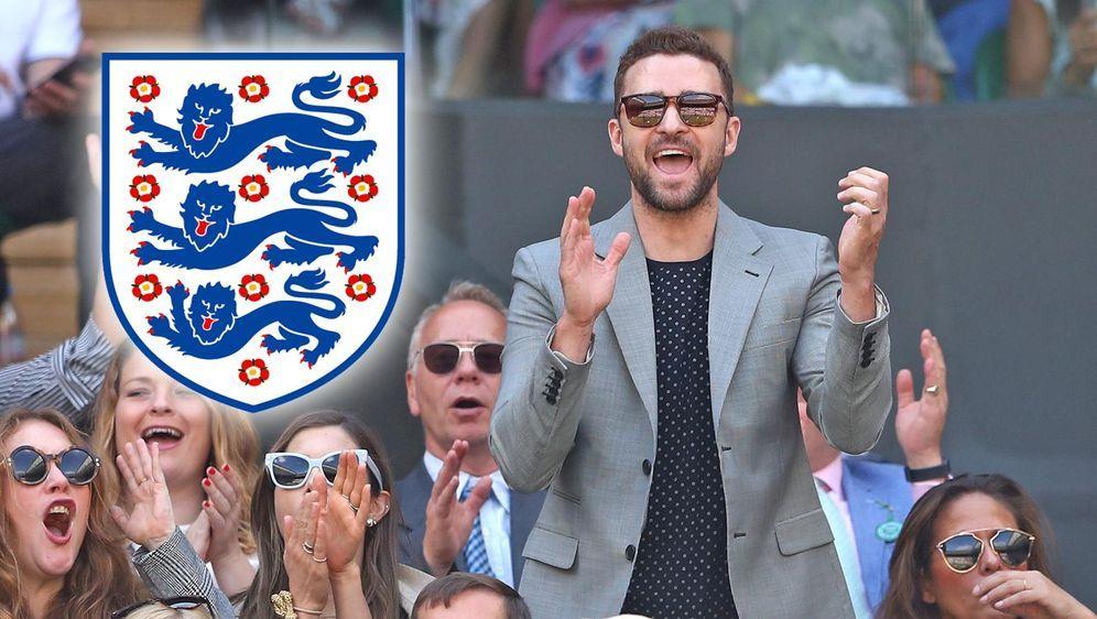 Justin Timberlake schaut das zweite Halbfinale der WM gemeinsam mit seinen L... - Bildquelle: getty images