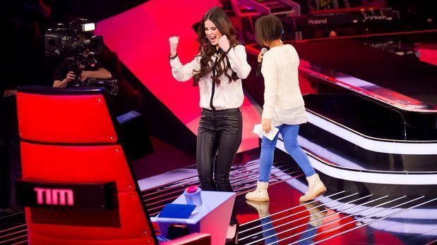 The-Voice-Kids-epi03-danach-Judith-SAT1-Richard-Huebner - Bildquelle: SAT.1/R...