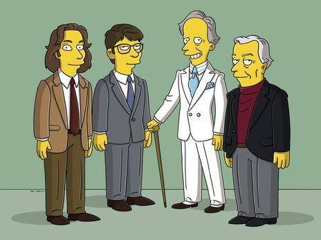 Die Simpsons - Moe'N'A Lisa: (v.l.n.r.) Michael Chabon, Jonathan Franzen, Tom...