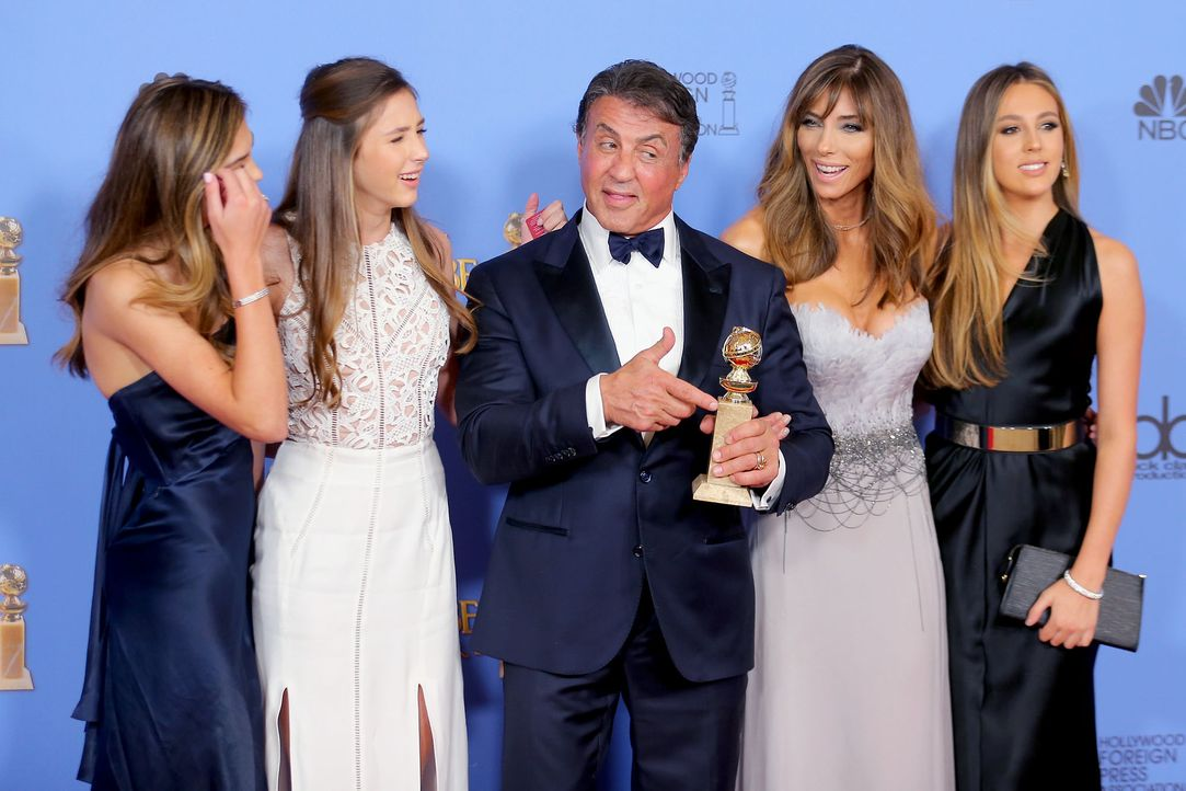 GG-Gewinner-160110-Stallone-Familie-getty-AFP - Bildquelle: getty-AFP