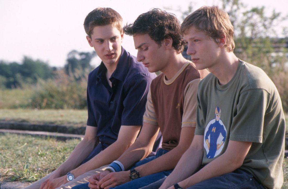 Sex-Up - Jungs haben's auch nicht leicht: Ziege (André Kaminski, M.), Sven (Joseph Bolz, l.) und Häschen (Jacob Matschenz, r.) ... - Bildquelle: Gordon Mühle ProSieben