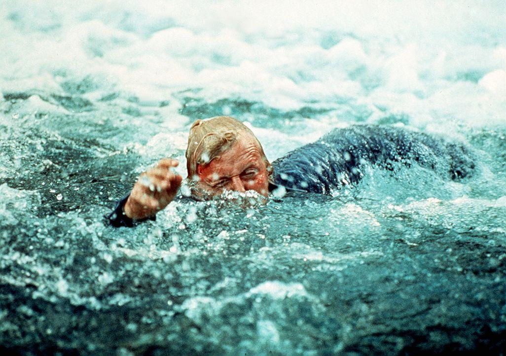 Auf der Flucht: Frank Warren (Rutger Hauer) schlägt sich durch die Fluten ... - Bildquelle: Home Box Office (HBO)