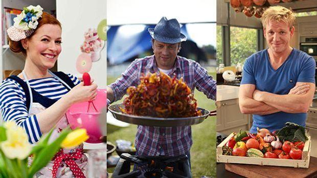 Am 3. Juli kochen Jamie Oliver, Enie van de Meiklokjes und Gordon Ramsay in u...
