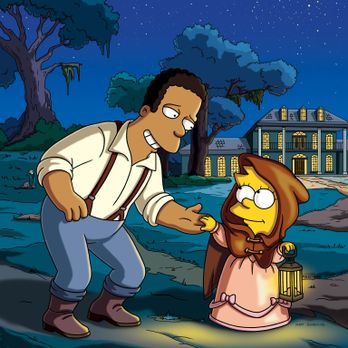 Die Simpsons - Die Farbe gelb: Virgil (l.) und Lisa (r.) ... - Bildquelle: un...