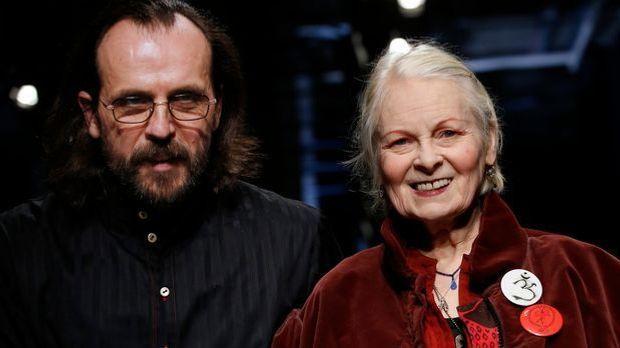 Vivianne Westwood mit ihrem jüngeren Ehemann